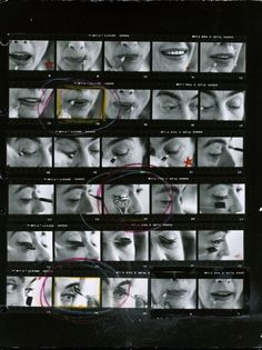 Joan Crawfod applying makeup by Eve Arnold.  1959.