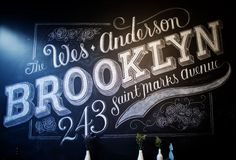 Beautiful Hand drawn #typography #blackboard