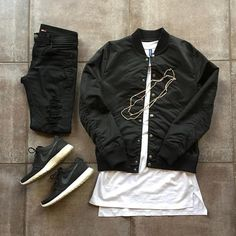 Swap out the kicks for Js 🤘🏻 Outfits Hombre, Dope Outfits, Casual Outfits, Fashion Outfits, Streetwear Mode, Streetwear Fashion, Latest Mens Fashion, Urban Fashion, Masculine Style