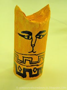 Egyptian Cat Mummies - t.p. tubes.   I KNEW those gazillion toilet paper tubes would come in handy!