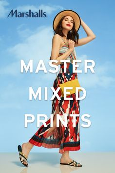 When it comes to pairing prints this summer, be the master of mixing and matching. Bold bottoms demand a demure blouse and vice versa, to balance that style scale. Visit Marshalls for trendy items in women's fashion.