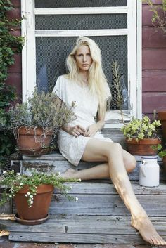 Kirsty Hume in Lily Ashwell Spring Look Book