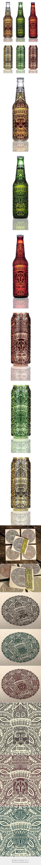 Bandidos, beer labels on Behance via Natasza Salanska | #packaging #design | Graphic Design | Pinterest / Beer / Bottle / Drink / African / Inspired / Ideas / Inspiration / Graphism / Detailed / Totem / Ethnic