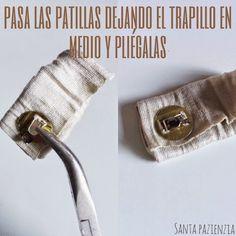 ¿Sabes poner un botón de imán en un bolso de trapillo? Tutorial foto a foto | Santa Pazienzia