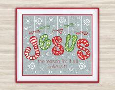 Jesus Christmas Cross Stitch Pattern christmas by TimeForStitch
