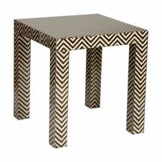 Killer end table.  Love the detail.  Pair with almost any chair.