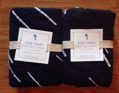 POTTERY BARN KIDS Star Wars Millennium Falcon STANDARD Shams, SET OF 2, NEW…