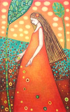 patternprints journal: VIVID COLORS AND PATTERNS IN PAINTING BY CHILEAN ARTIST SONIA KOCH Funky Fonts, Arte Popular, Kochi, Pattern Art, Vivid Colors, Colours, Figurative Art, Art Projects, Illustration Art