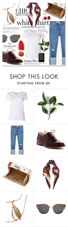 """""""Wardrobe Staples: The White Shirt"""" by fernandamaverick ❤ liked on Polyvore featuring T By Alexander Wang, Zara, Steve Madden, Anya Hindmarch, Gucci, Valentino and Hedi Slimane"""