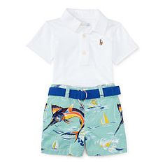 b3c6a407 Polo Shirt & Printed Short Set - Baby Boy Outfits - RalphLauren.com Baby