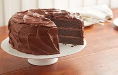 """HERSHEY'S """"Perfectly Chocolate"""" Chocolate Cake Recipe.....hands down, the BEST chocolate cake you will ever make!"""