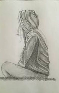 easy pencil drawings of sadness sad girl easy sketch images lonely - sketch drawing of Easy Pencil Drawings, Sad Drawings, Couple Drawings, Art Drawings Sketches, Sketches Of Couples, Cool Girl Drawings, Pencil Drawings For Beginners, Pencil Sketching, Drawing Faces