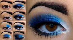 make up azul - Pesquisa Google
