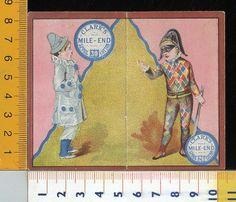 Calendario Calendarietto Clark's Merceria 1883 Carnevale Arlecchino