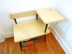 Vintage Blond Telephone Table