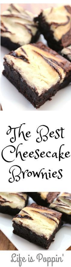 This Cheesecake Brownie recipe is the ultimate gluttony sin! A mix of my two favorite desserts in one! The decadence of cheese cake combines with the richness of brownie will make anyone with a sweet tooth go weak in the knees with these mouth-watering Ch Best Cheesecake, Cheesecake Brownies, Cheesecake Recipes, Fudge Brownies, Cream Cheese Brownies, Cheesecake Cupcakes, Dessert Simple, Dessert Oreo, Dessert Bars