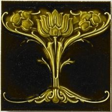 The Art Nouveau Tile Fireplace.