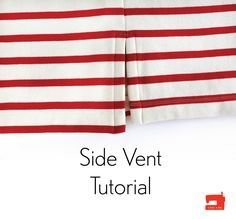 Here's a quick and easy tutorial that will show you how to add a side vent to any t-shirt pattern. Dress Sewing Tutorials, Sewing Basics, Sewing Hacks, Sewing Tips, Sewing Projects, Sewing Ideas, Doll Dress Patterns, Clothing Patterns, Sewing Patterns