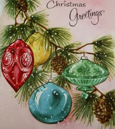 Hanging ornaments.