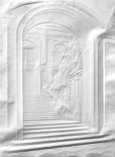 Simon Schubert   Last Year in Marienbaduntitled(grand stairway), 70cm x50cm, 2013