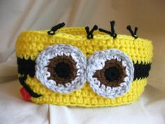 Crochet Despicable Me inspired Minion Headband. Head by BeadGs
