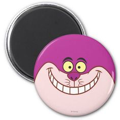 Alice in Wonderland - Cheshire Cat Face. Regalos, Gifts. #imanes #magnets