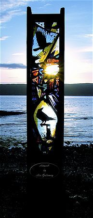 Alec Galloway Galleries - outdoor glass projects -  totem