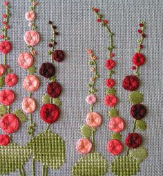 Hand Embroidery and Its Types - Embroidery Patterns Brazilian Embroidery Stitches, Basic Embroidery Stitches, Hand Embroidery Videos, Hand Work Embroidery, Creative Embroidery, Beginner Embroidery, Learn Embroidery, Embroidery Techniques, Hand Embroidery Patterns Flowers