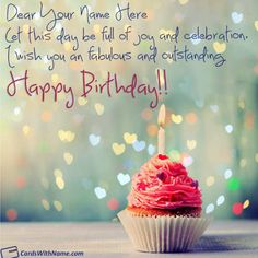 Happy Birthday Wishes With Name Editor Online