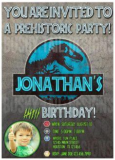 Jurassic World Birthday Invitation by BushyTailDesigns on Etsy