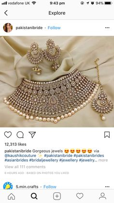 Bridal Pakistani Dresses Jewelry 21 Ideas For 2019 Indian Accessories, Indian Wedding Jewelry, India Jewelry, Bridal Jewelry Sets, Bridal Jewellery, Wedding Accessories, Pakistani Jewelry, Bollywood Jewelry, Maquillaje