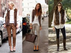 11_Colete de pelucia_looks para o trabalho_fur vest_colete de pelo fake_colete de pelucia_como usar_colete de pelucia marrom