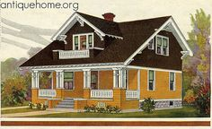Sears Kit Home: Westly in color from 1918 catalog.