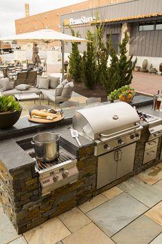 Die 7 besten bilder von grill unterstand backyard patio for Outdoorkuche mit grill