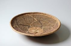 round African woven basket tray wall decor by ModishVintage, $63.00