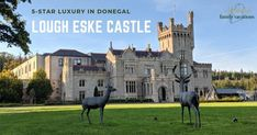 Lough Eske Castle Hotel in Donegal is the only hotel in County Donegal. And, BONUS, this is a castle hotel that won't break your budget. Ireland Vacation, Ireland Travel, Castles In Ireland, Donegal, Travel News, European Travel, Plan Your Trip, Trip Planning, Places To Go