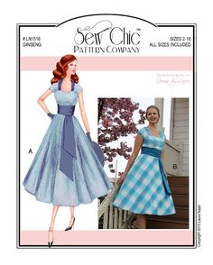 Sew Chic LN1516 Ginseng Dress Pattern for Women