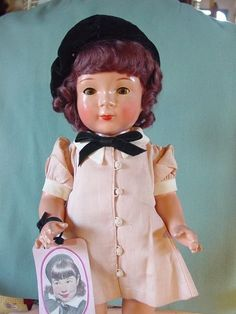 MADAME ALEXANDER VINTAGE USED COMPOSITION MINT JANE WITHERS DOLL 20 INCH