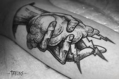 by Alex Tabuns #hand #lightning #tattoo