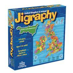 JIGRAPHY: UNITED KINGDOM & IRELAND | Map Jigsaws | The Happy Puzzle Company