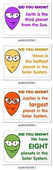 10 ALIEN POSTERS ( SOLAR SYSTEM ) - TeachersPayTeachers.com