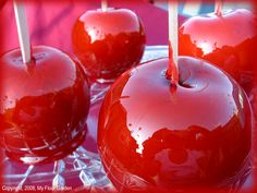 Homemade candy apples!