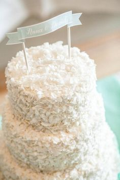 Light and Frothy Cakes   Coconut  Cake and Wedding cake