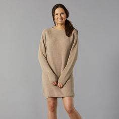 Pura pitkä beige neule My Wardrobe, Beige, Wool, Sweaters, Dresses, Fashion, Vestidos, Moda, Sweater