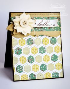 Fabulous Card by Joanne B...OMG...look at what she did with the MFT hexi border die.