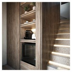 The interior design is based on comfort and openness, while the materials are inspired by earthy colors and textures. Openness, Interior Concept, Exterior Design, Earthy, Tall Cabinet Storage, Spa, Stairs, Inspired, Architecture