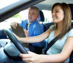 driving instructor giving a motorway driving lesson