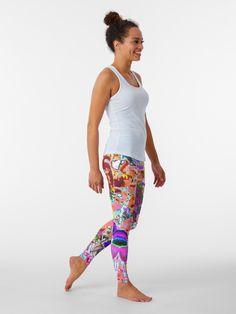 Light Blue Leggings, Leggings Are Not Pants, Colorful Leggings, Yoga Pants Pattern, Yoga Fashion, Kids Fashion, Chic Outfits, Chiffon Tops, Hot Pink