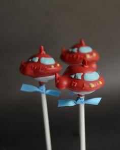 Little Einsteins Inspired Birthday Party Cake Pop - Red Rocket. $39.00, via Etsy.