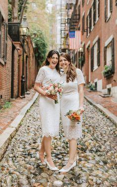 A LGBT Gay wedding in Boston's historic Beacon Hill neighborhood Boston City Hall, In Boston, Lgbt Wedding, Wedding Engagement, Boston Public Garden, City Hall Wedding, Beacon Hill, Wedding Moments, Beautiful Couple